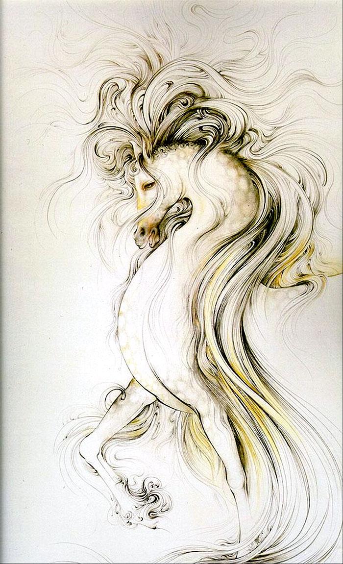 Причудливый и прекрасный мир персидской сказки на полотнах Махмуда Фаршчияна