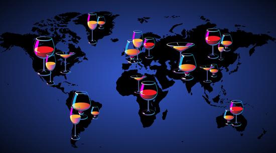 Типы алкоголя, которые предпочитают по всему миру