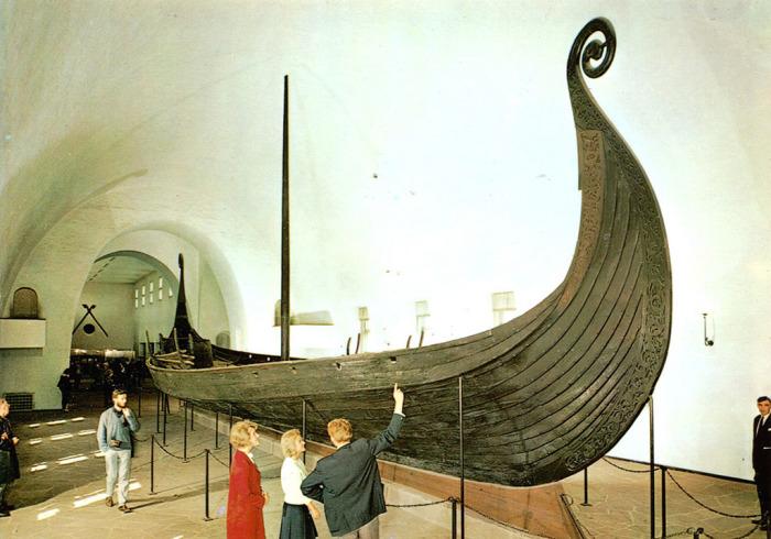 Осебергский корабль в Музее драккаров в Осло.   Фото: flickr.com.