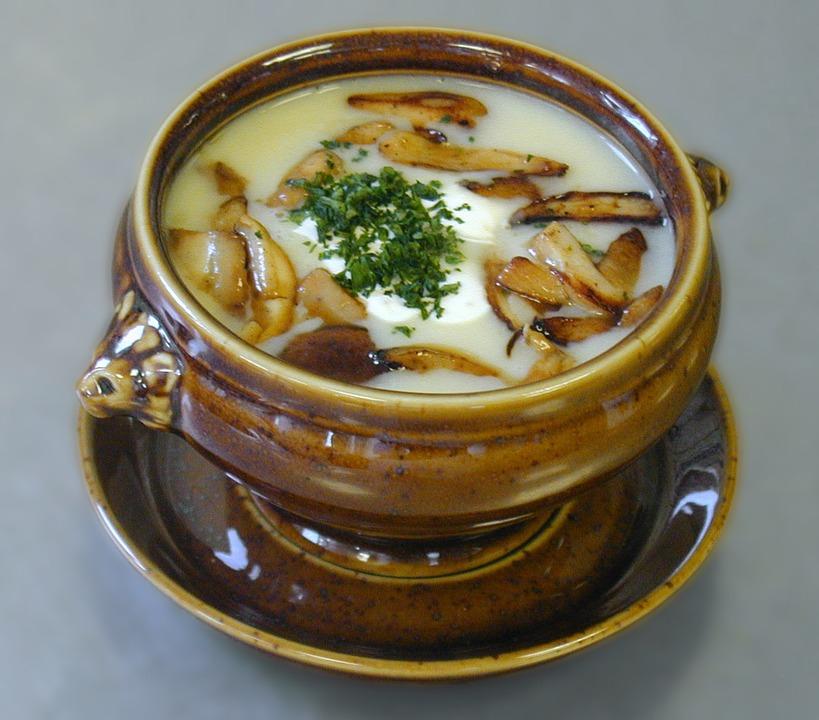 суп из грибов дождевиков