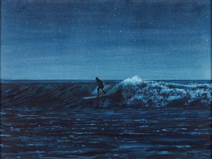 Ночной сёрфингист. Автор: Tim Gardner.