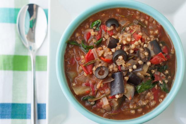Изображение рецепта Средиземноморское овощное рагу с гречкой