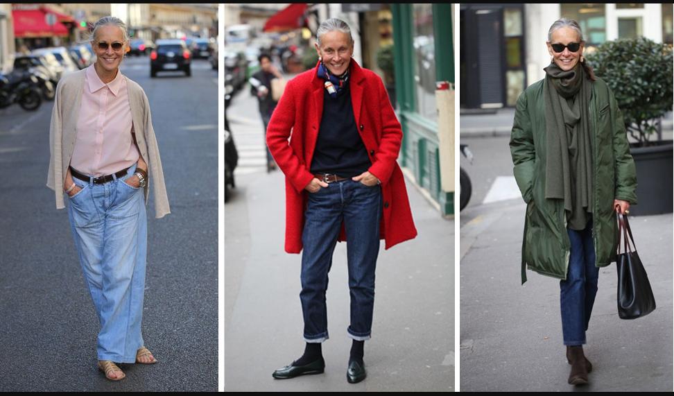 Как носить джинсы женщине среднего возраста? 18 модных идей