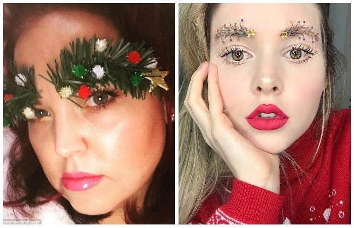 Брови-ёлки – модный образ для встречи Нового года, над которым потешается весь Интернет