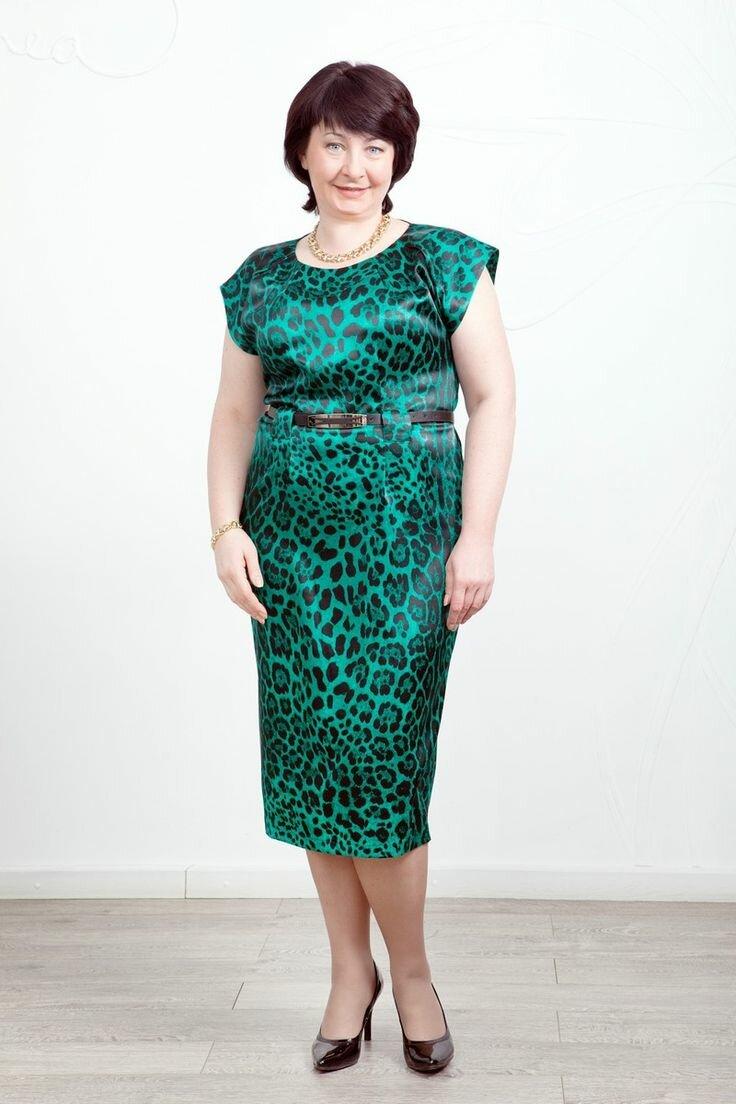Женщина в леопардовом платье. /Фото: i.pinimg.com