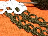 Вязание крючком.  Кайма