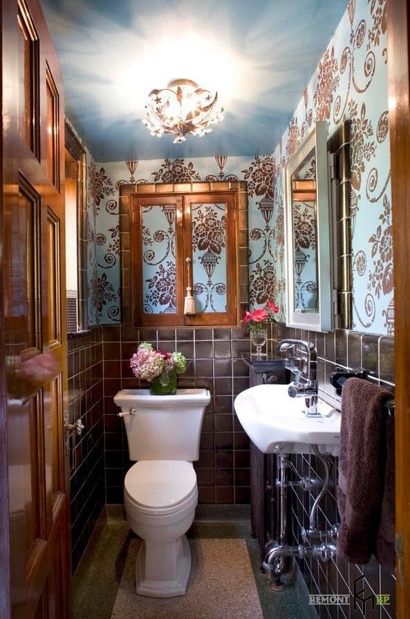 Необычный интерьер туалета