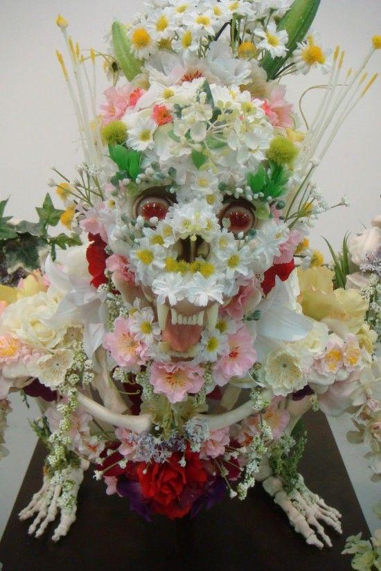 Скелеты из цветов (7 фотографий), photo:5