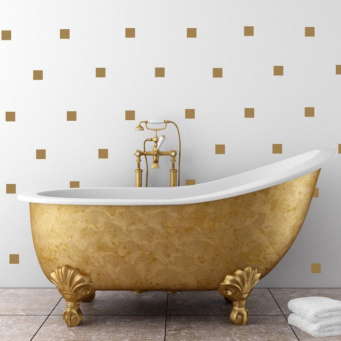 Настенные стикеры в ванной