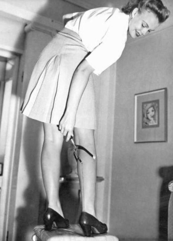 16. Рисовали на колготках 1940-х женщины из прошлого, история, фото