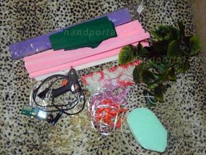 материалы и инструменты для букетов из конфет