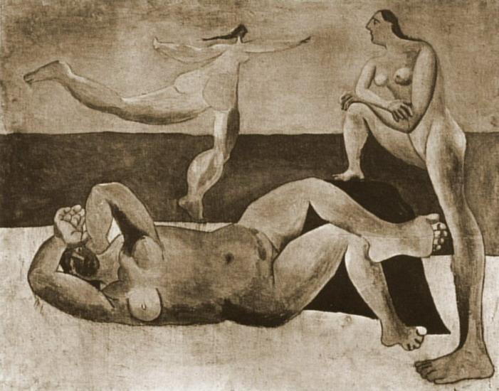 Пабло Пикассо. Три купальщицы. 1920 год