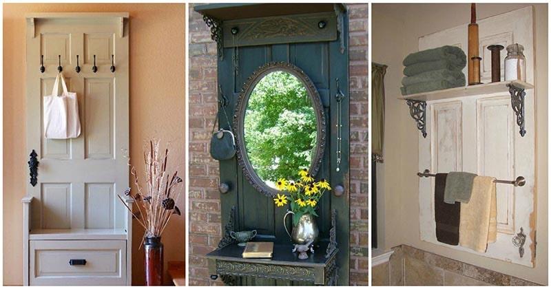 Старой двери — новую жизнь! 26 впечатляющих идей для дома и дачи