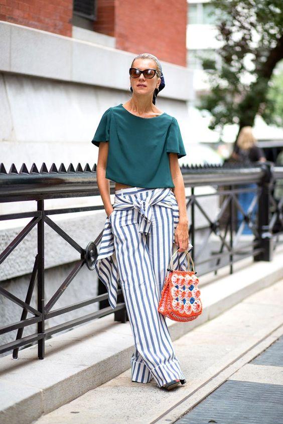 С чем носить широкие брюки палаццо 2017: восхитительные образ. Часть 1
