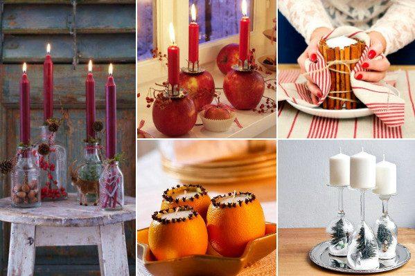 Оформляем свечи к Новому году!
