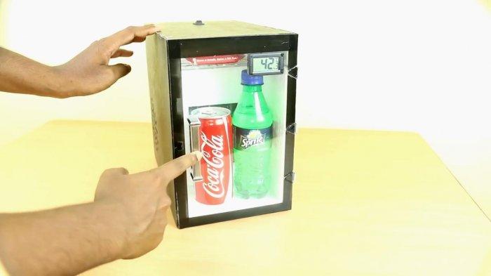 Работа мини холодильника на 12 В