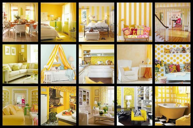 Желтый цвет в интерьере: солнечный праздник.
