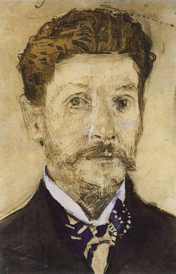 Автопортрет. 1904-1905 - Врубель Михаил