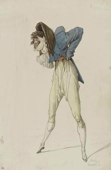 Инкруаябль. Карикатура Антуана Шарля Ораса Верне. Около 1790 года
