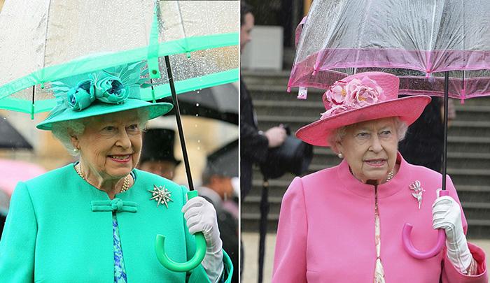 Королева и зонтики.