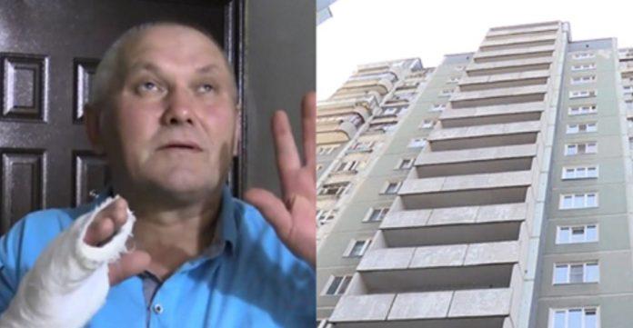 Мужчина сломал все пальцы на руке, но спас малышку, упавшую с 8 этажа