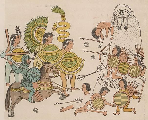 Конкистадоры против ацтеков …