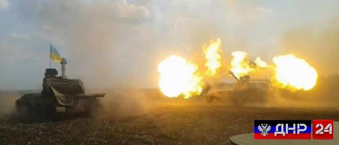 Ночная сводка: Украинские боевики ведут обстрел поселка Спартак на севере Донецка