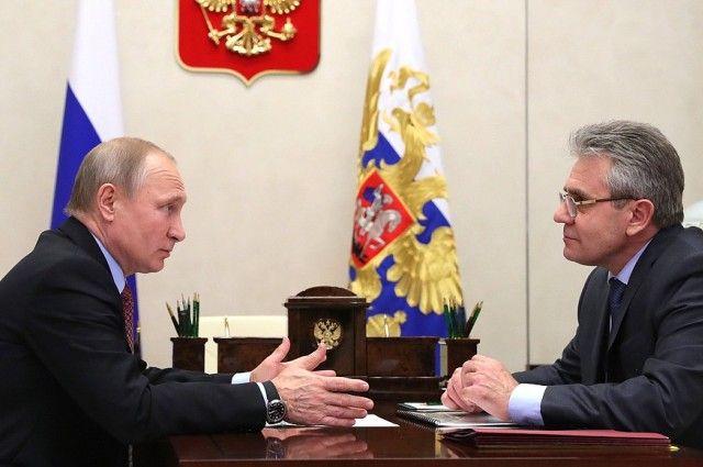 Путин встретился с президентом РАН Сергеевым