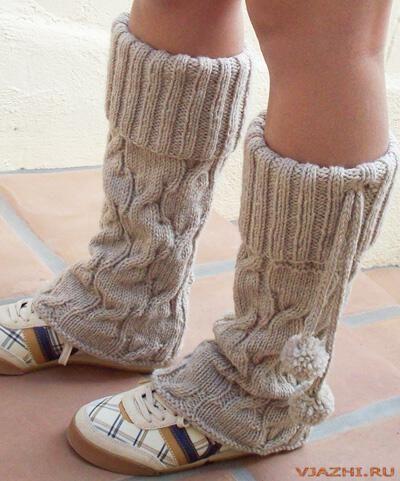 Вязанные гетры на обувь