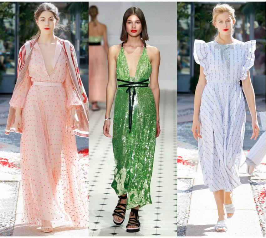 Какие Платья Модные В 2018 Году Женские