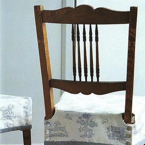 Выкройка чехла для стула