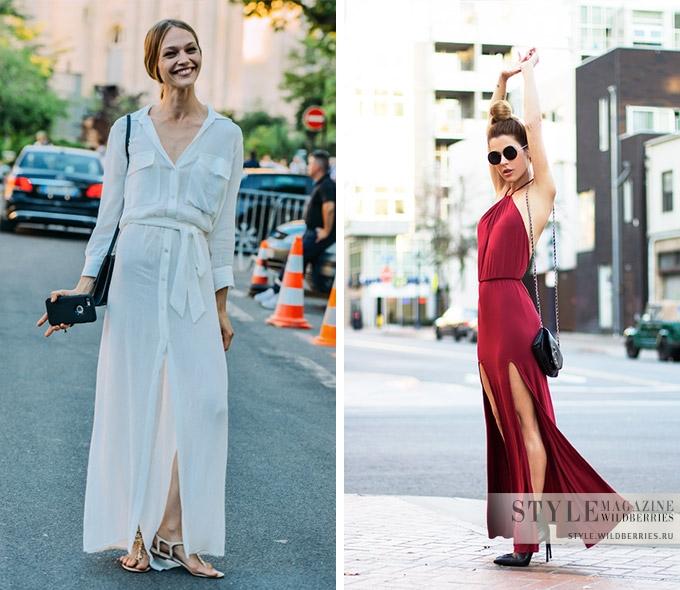 Максимум цвета: однотонное платье-макси