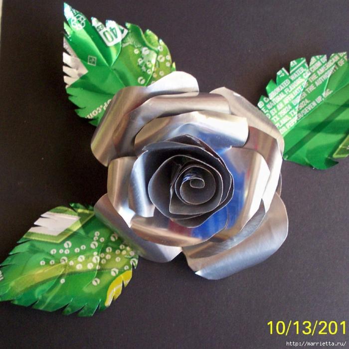 Цветы из пивных банок