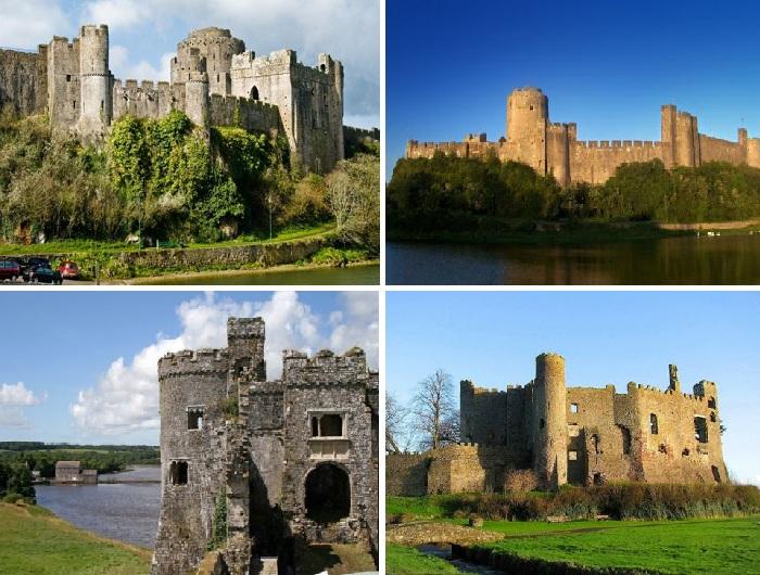В городе Тенби сохранилось множество старинных замков (Великобритания).