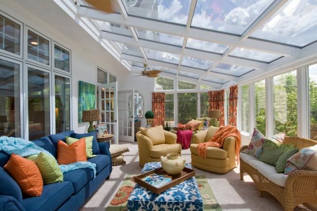 Комфортная летняя пристройка с поликарбонатной крышей