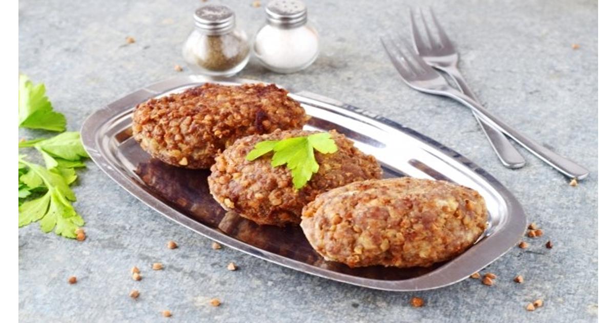 Вкусные котлетки без мяса с гречкой