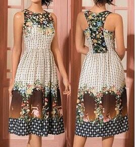 Летнее платье с красивой спинкой (выкройки)