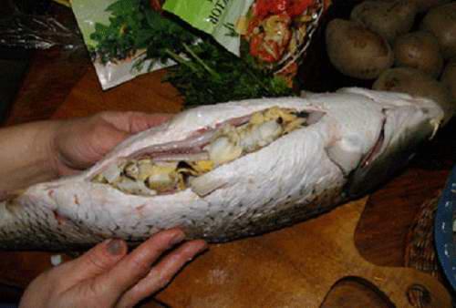 начиненный карп в духовке рецепт с фото