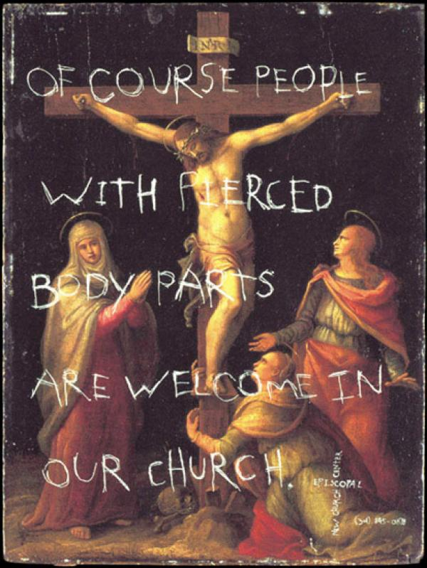 Episcopal New Church Center: Pierced, Episcopal New Church Center, The Richards Group, Печатная реклама