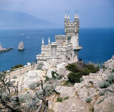 """Замок """"Ласточкино гнездо"""" в Крыму, 1973 год"""