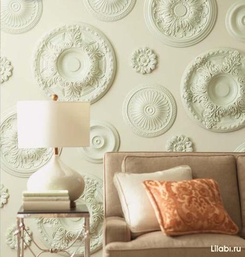Украшение стен в квартире. 50 фото