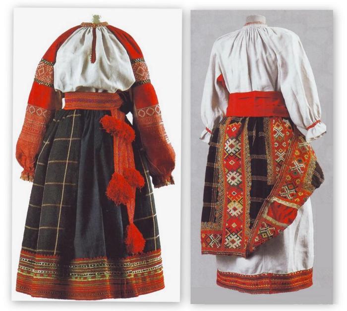 Понева как элемент праздничного русского костюма.