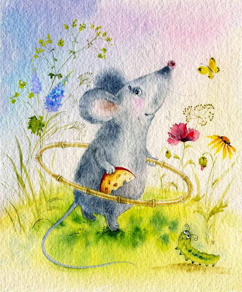 Детские нежные иллюстрации Элины Репкиной