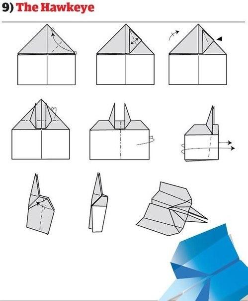 10 отличных моделей бумажных самолетиков