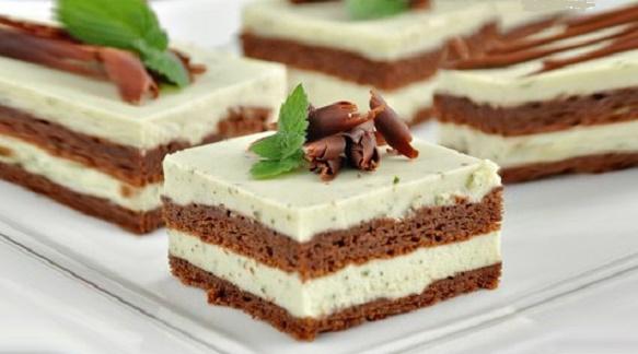 Бесподобный шоколадный торт с мятно-сливочным кремом