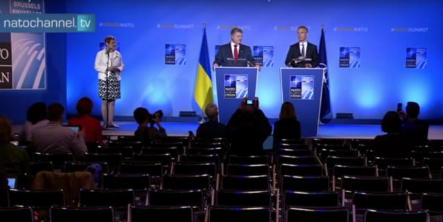 Появилось видео выступления Порошенко перед пустым залом