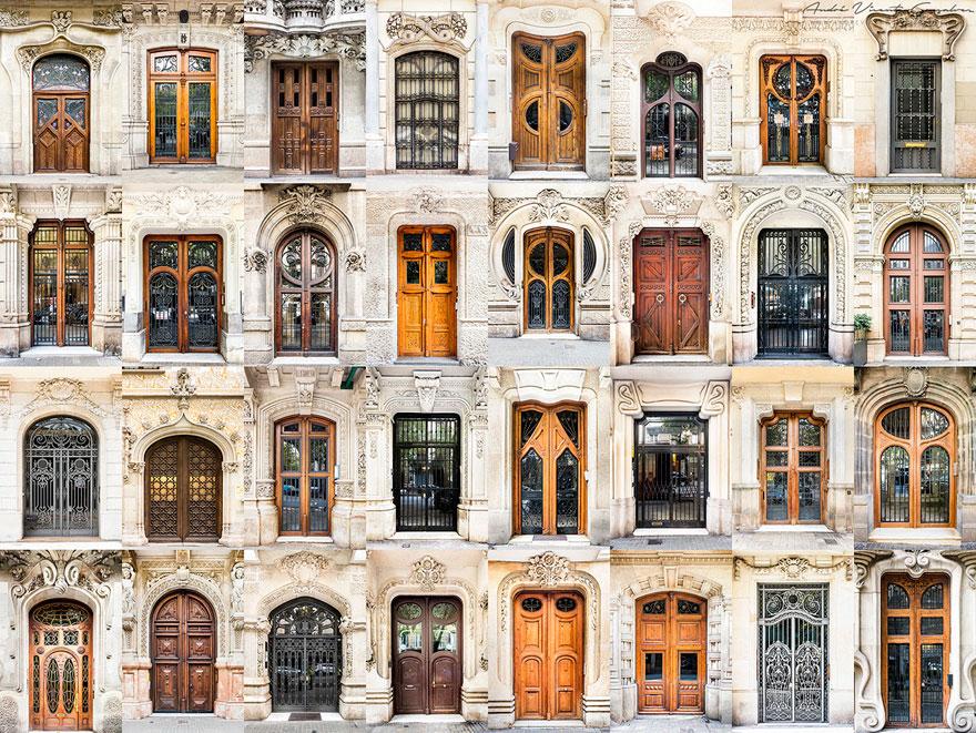 Фотографии красивых дверей и окон со всего мира