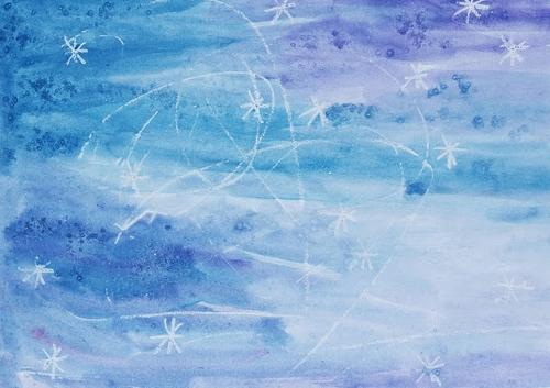 зимние рисунки детей