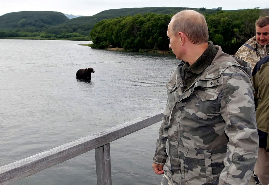 President of the Russian Federation in the South Kamchatka Sanctuary, 24 August 2010.