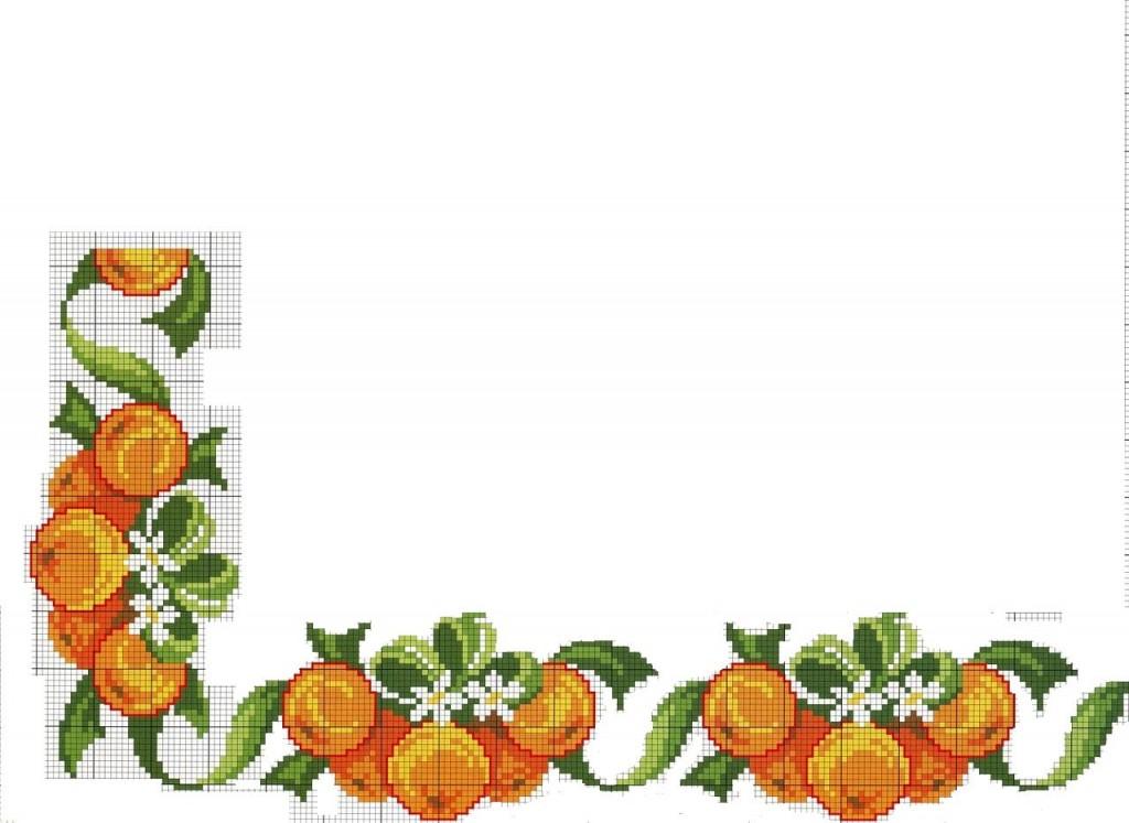 Вышивка апельсины крестиком 100